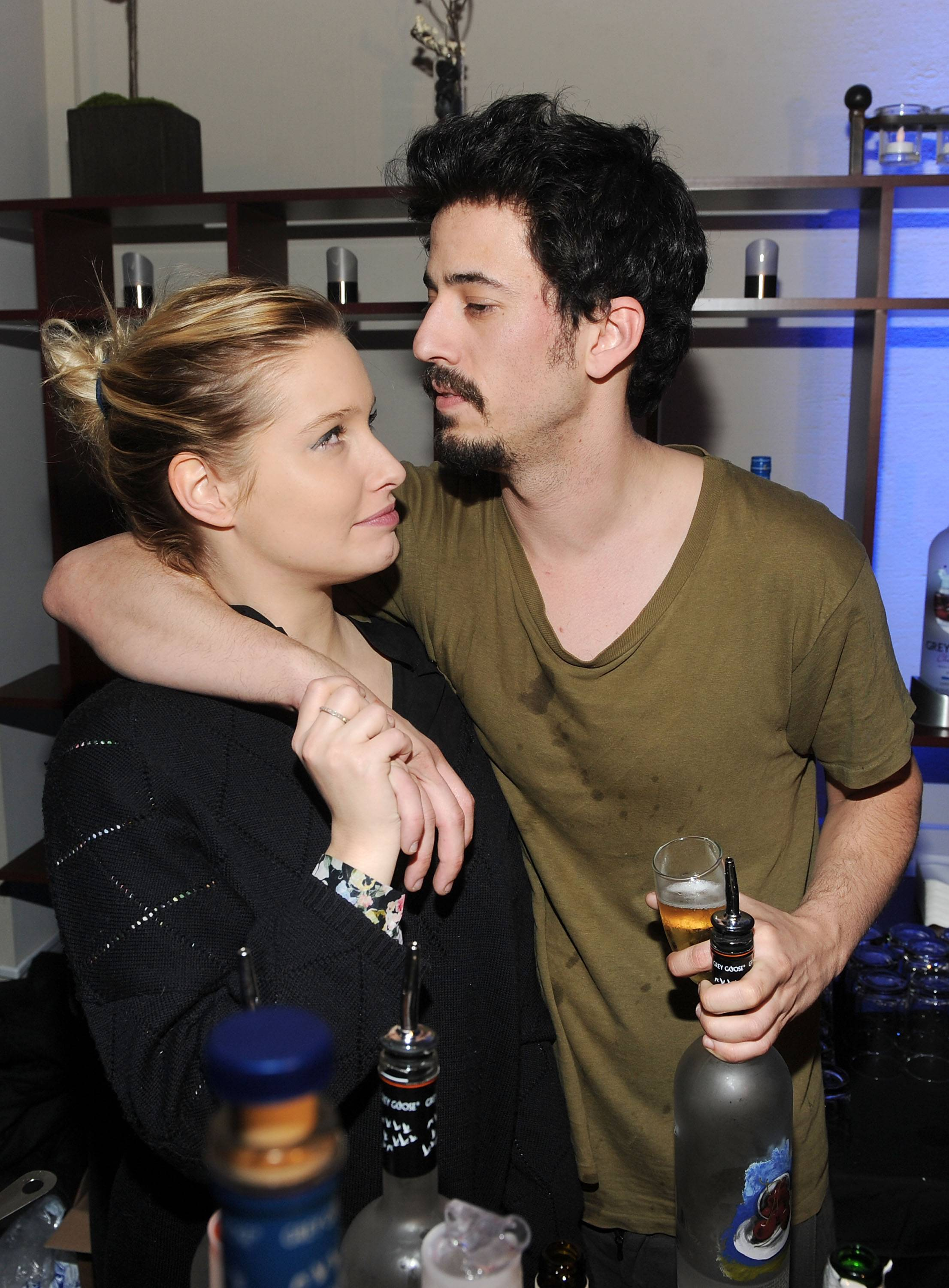 Lila Salet and Josh Mond at the Simon Killer Dinner Party at the GREY GOOSE Blue Door at Sundance 1-21-12