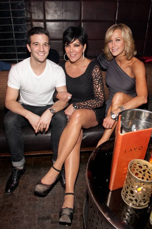 Mark Ballas, Kris Jenner, and Lara Spencer