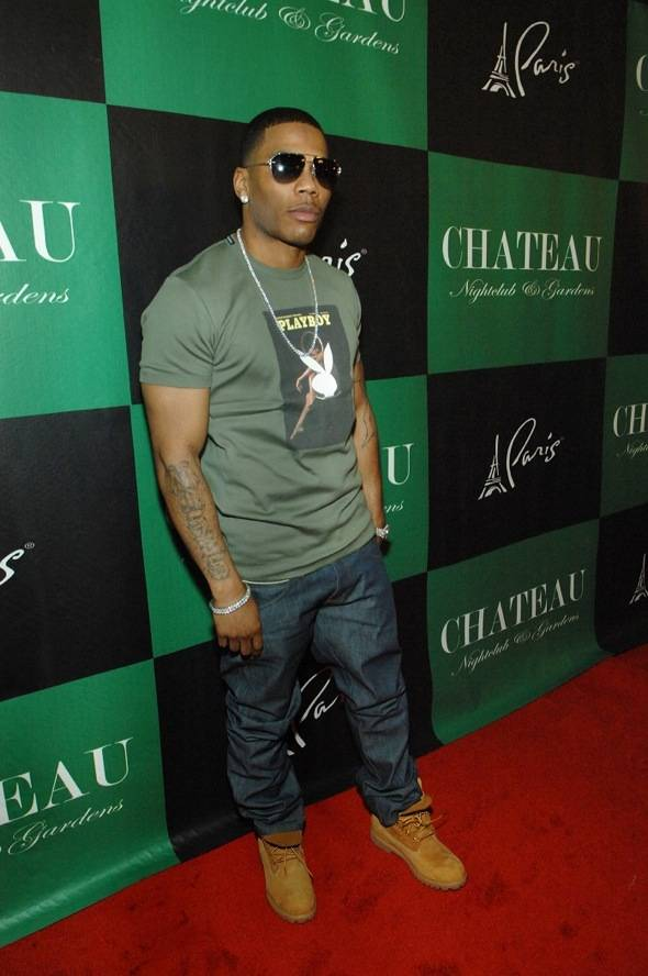 Nelly on the Chateau red carpet