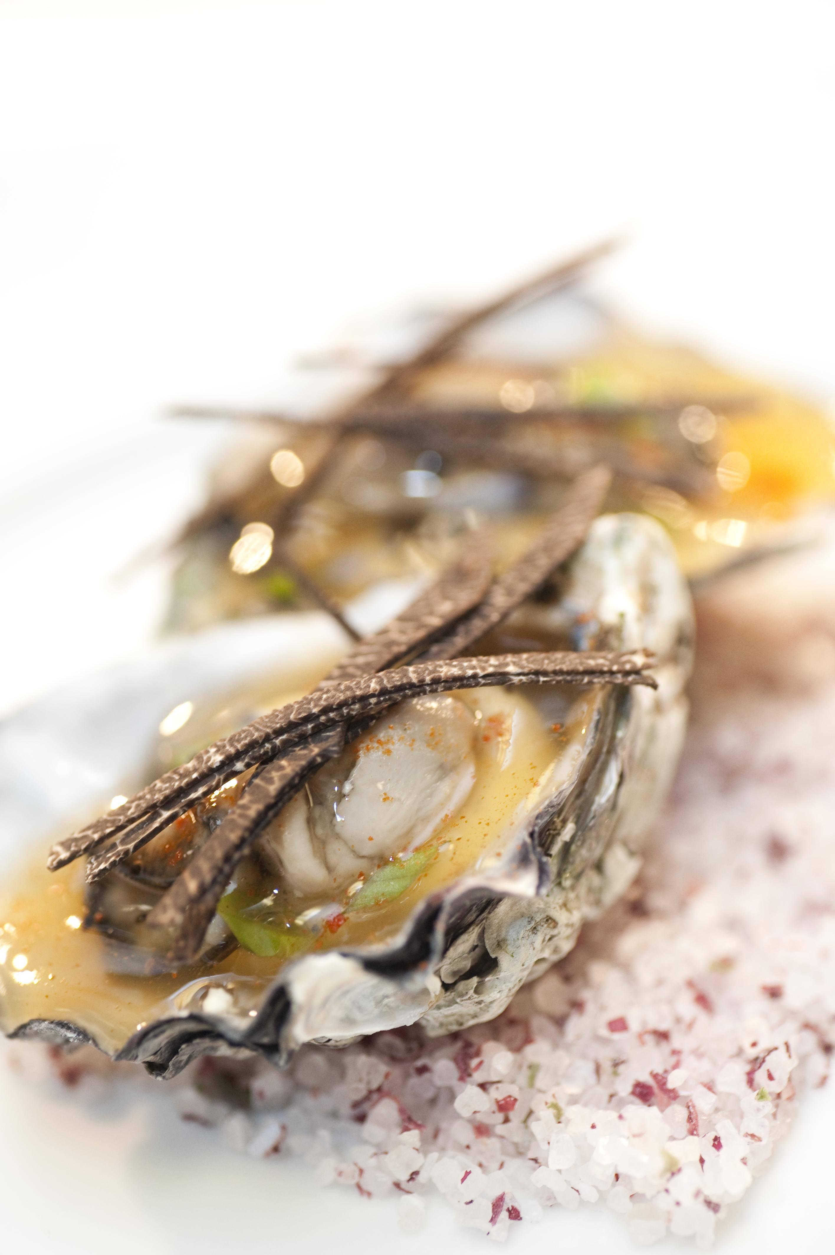 Oyster in Gelee with Leeks and Black Truffle…˙Ú∫≈‰¥–Àø∫Õ∫⁄À…¬∂