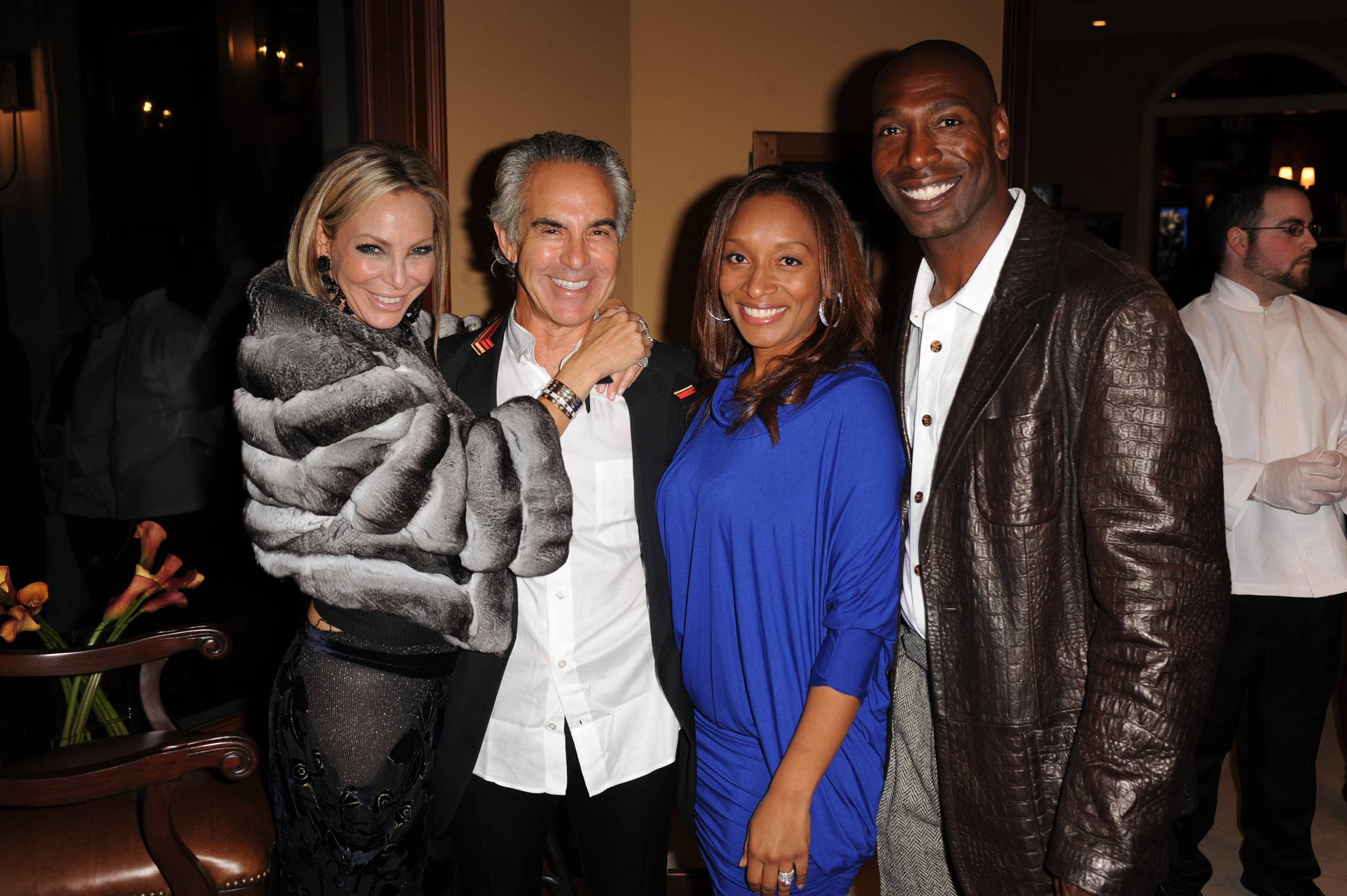 Lisa and Donald Pliner, world renowned shoe designer with Saskia Madison and former NFL Miami Dolphins great, Sam Madison