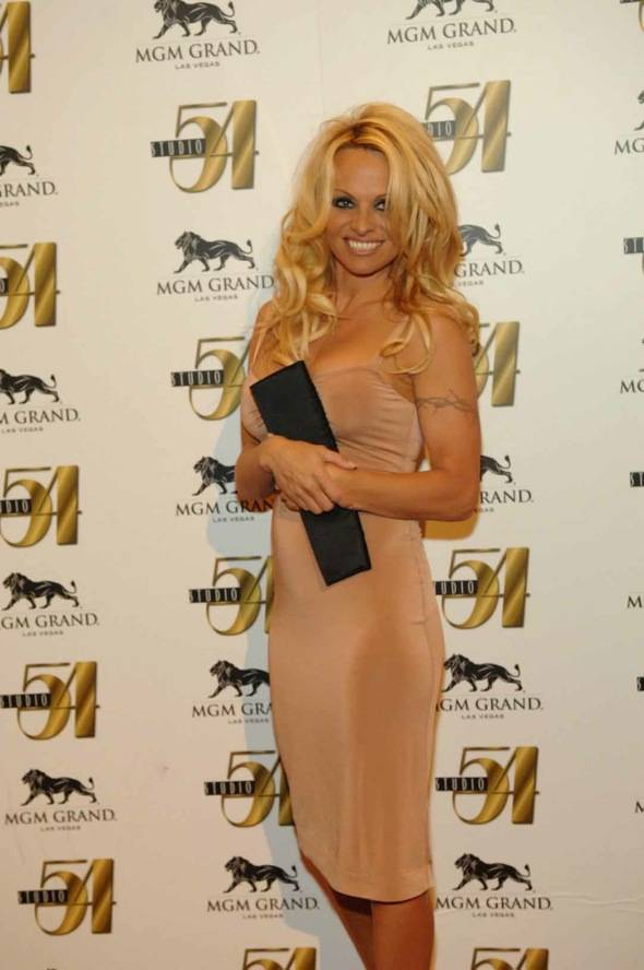 Pamela Anderson at Studio 54 for New Year's Eve.