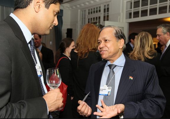 Satpal Brainch, President and CEO, CNBC International and Sri Prakash Lohia, Group Chairman, Indorama Corp