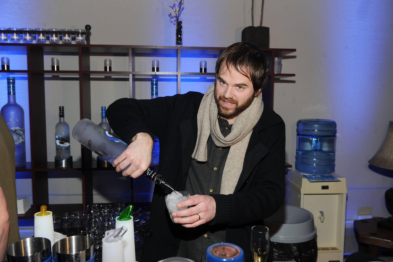 Producer Sean Durkin at the Simon Killer Dinner Party at the GREY GOOSE Blue Door at Sundance 1-21-12