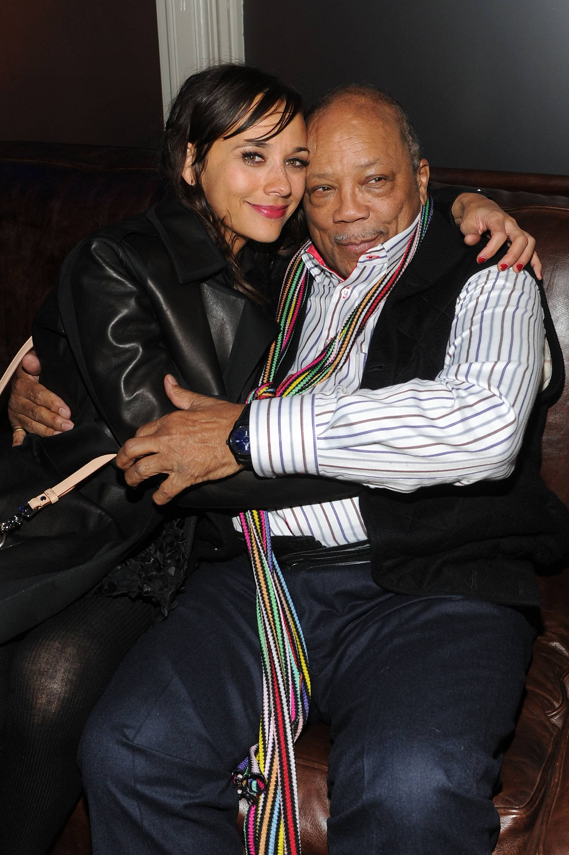 Rashida Jones and Quincy Jones at