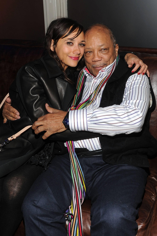 Rashida Jones and Quincy Jones at