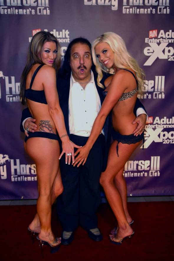 Ron Jeremy playing around with ladies