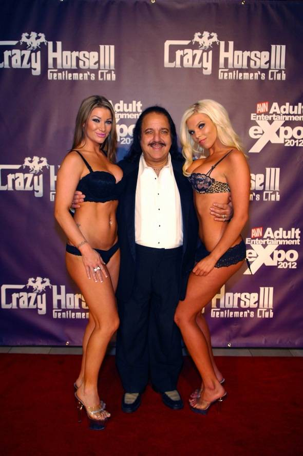 Ron posing with beautiful ladies