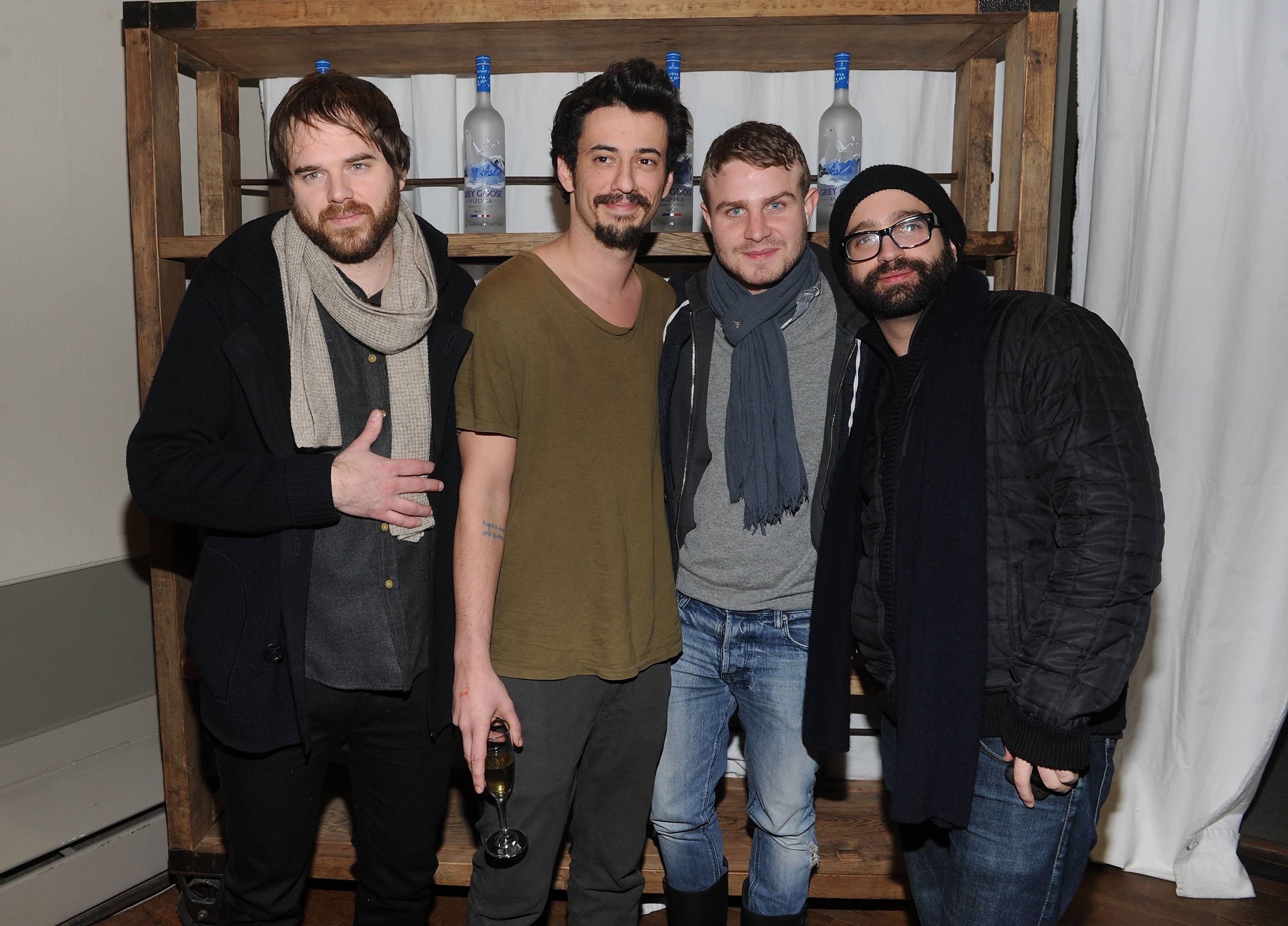 Sean Durkin, Josh Mond, Brady Corbet and Antonio Campos at the Simon Killer Dinner Party at the GREY GOOSE Blue Door at Sundance 1-21-12