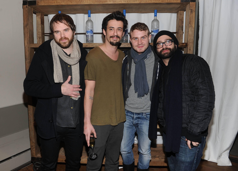 Sean Durkin, Josh Mond, Brady Corbet and Antonio Campos at the Simon Killer Dinner Party at the GREY GOOSE Blue Door at Sundance 1-21-12