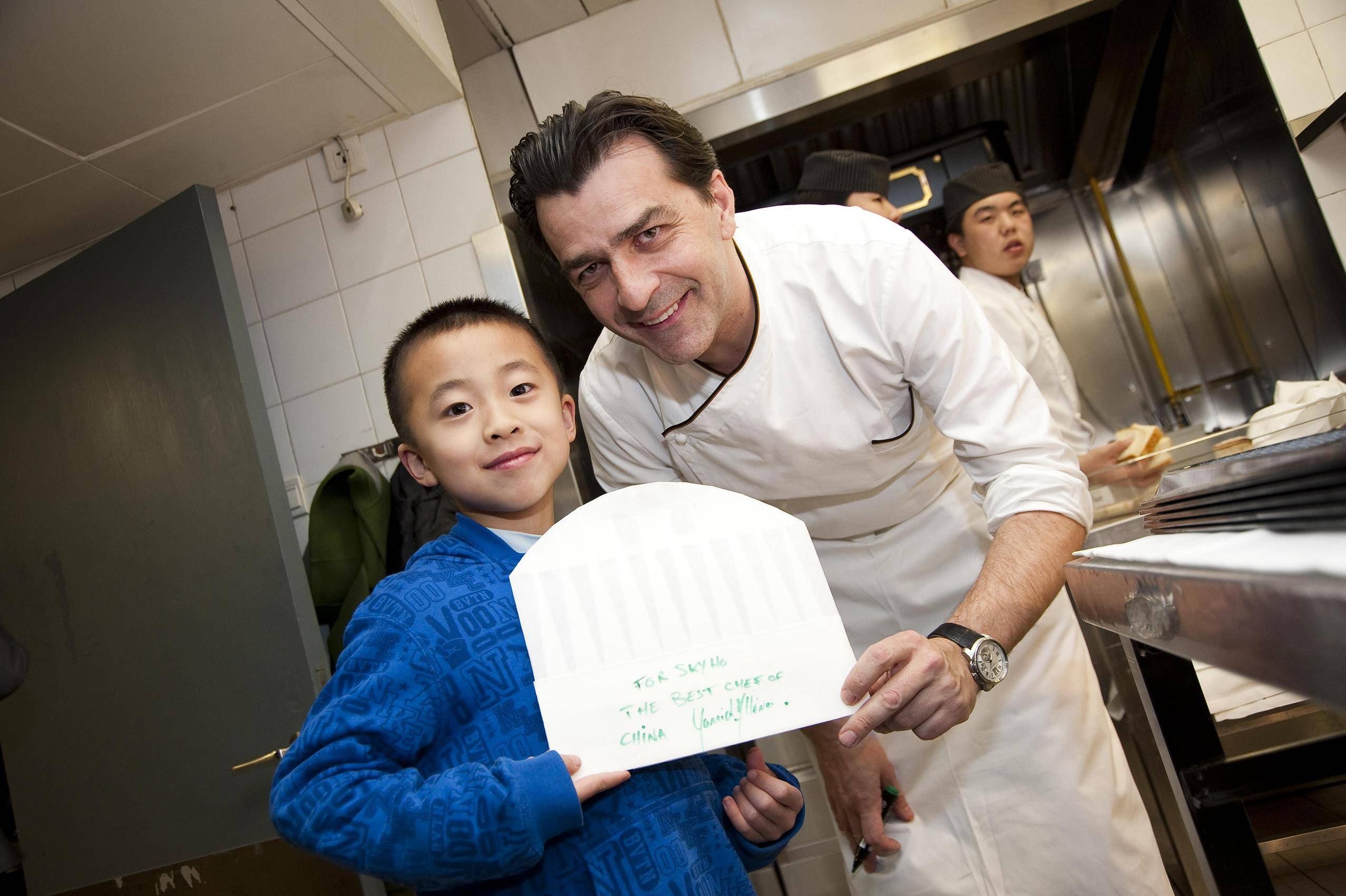Sky Ho and Chef Yannick