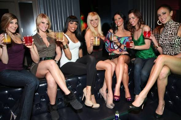 The FANTASY ladies toasting to the night