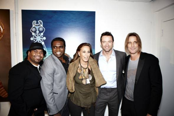 Nathan Mundraby, Clifton Bieundurry, Donna Karan, Hugh Jackman, and Russell James.