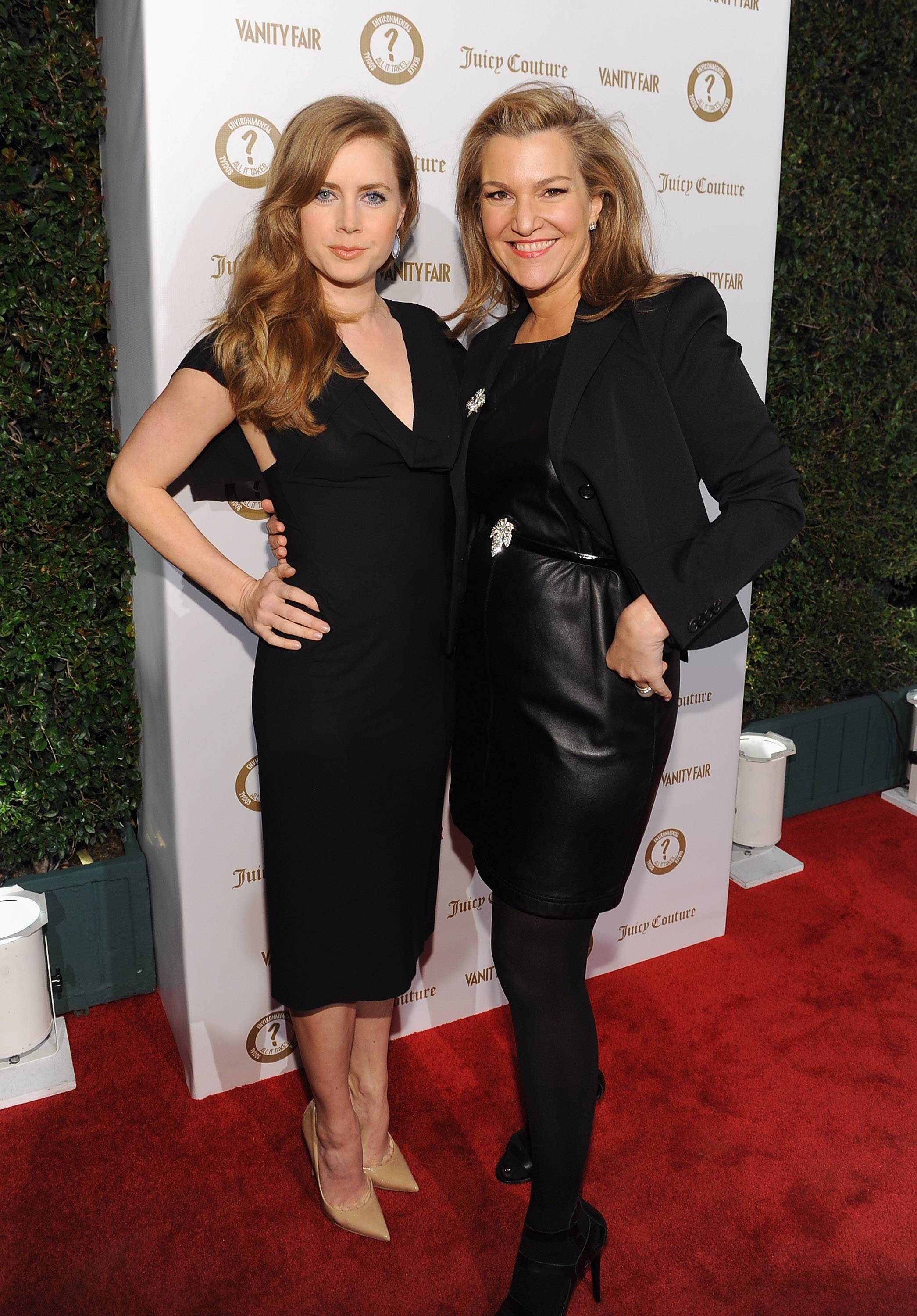 Actress Amy Adams (L) and Senior West Coast Editor of Vanity Fair Krista Smith