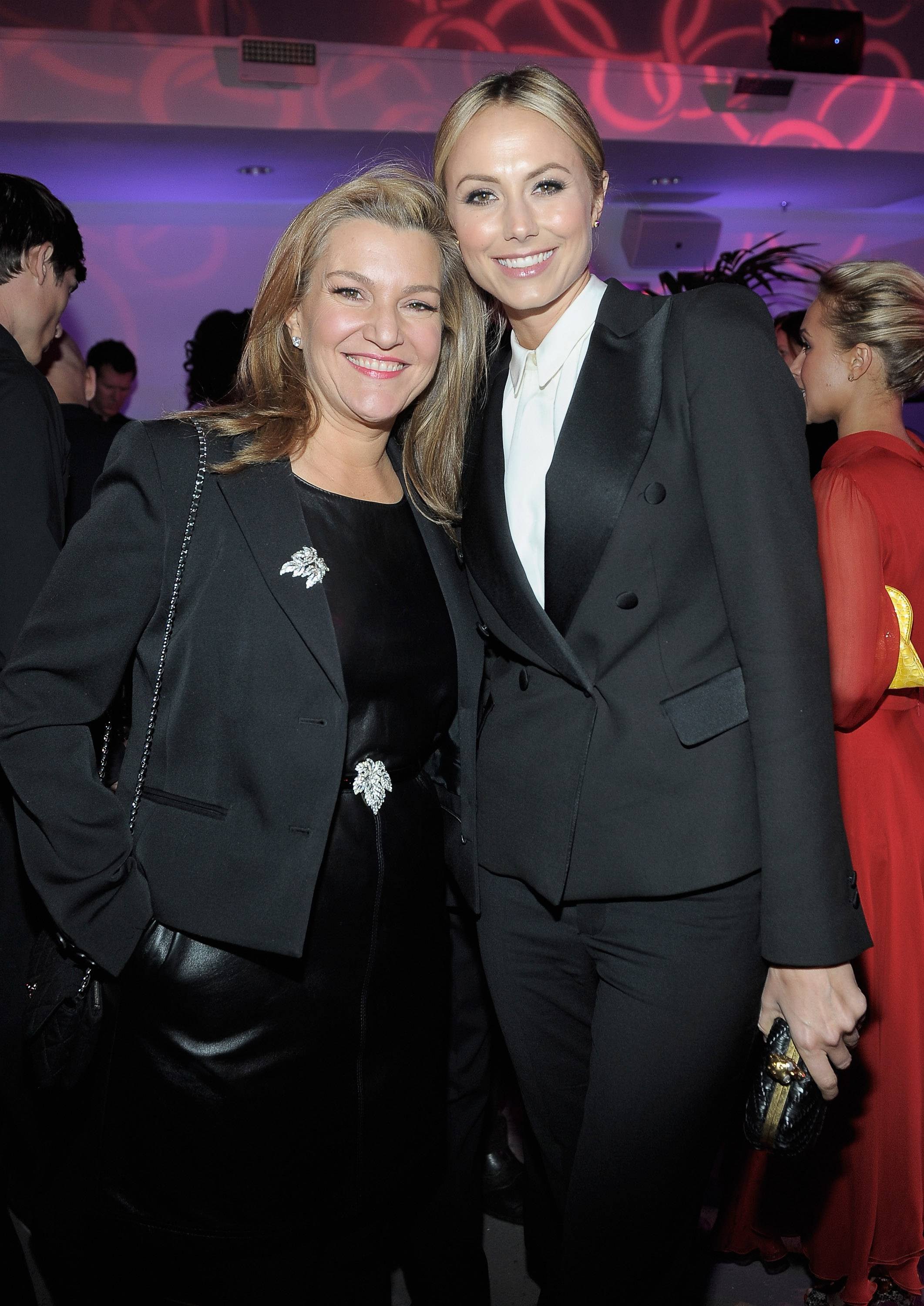 Senior West Coast Editor of Vanity Fair Krista Smith and actress Stacy Keibler