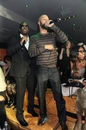 Diddy and Common perform at the I Love NY Party at 1 OAK.