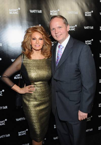 Raquel Welch and Montblanc North America President and CEO Jan-Patrick Schmitz