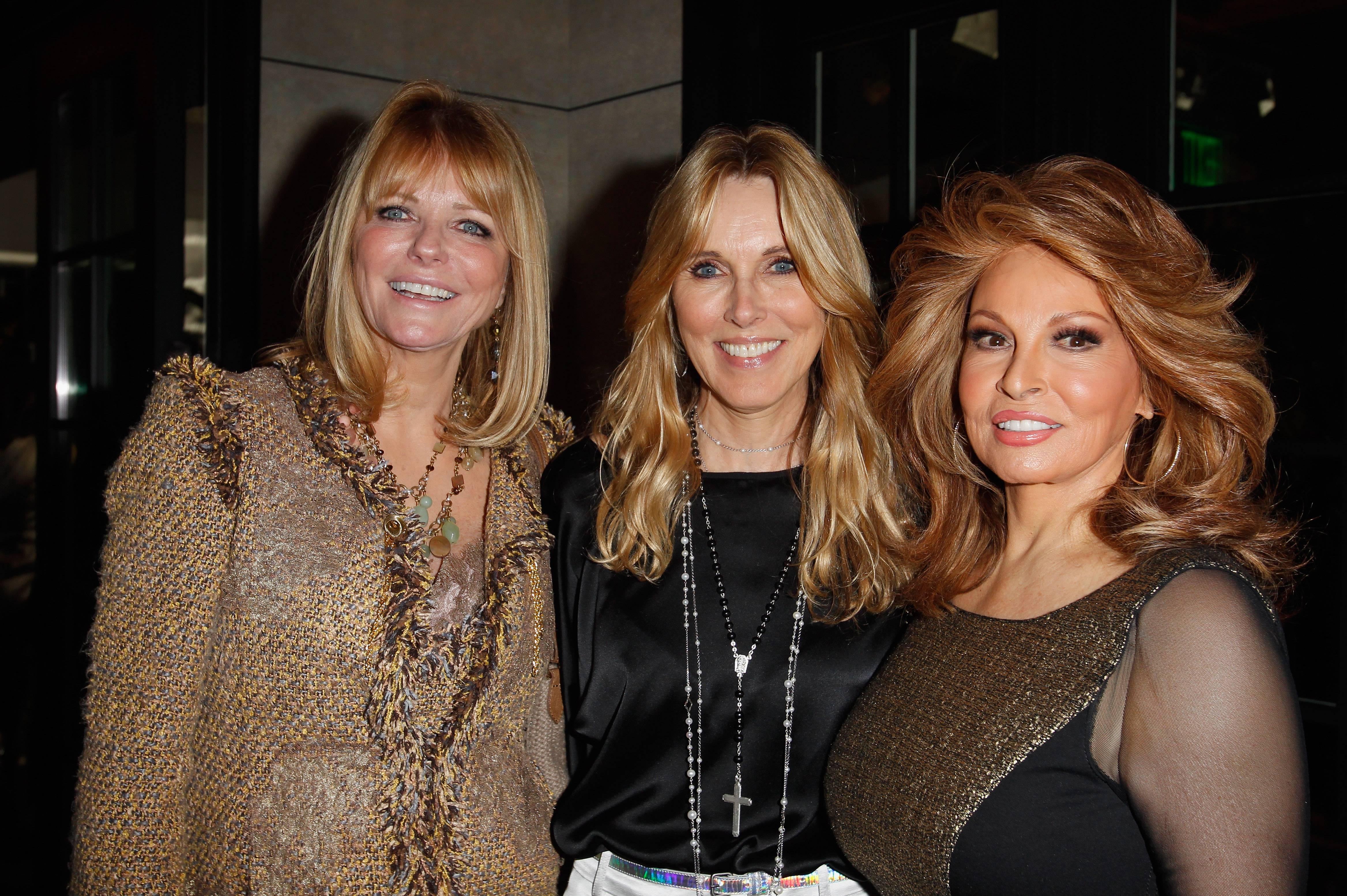 Cheryl Tiegs, Alana Stewart and Raquel Welch