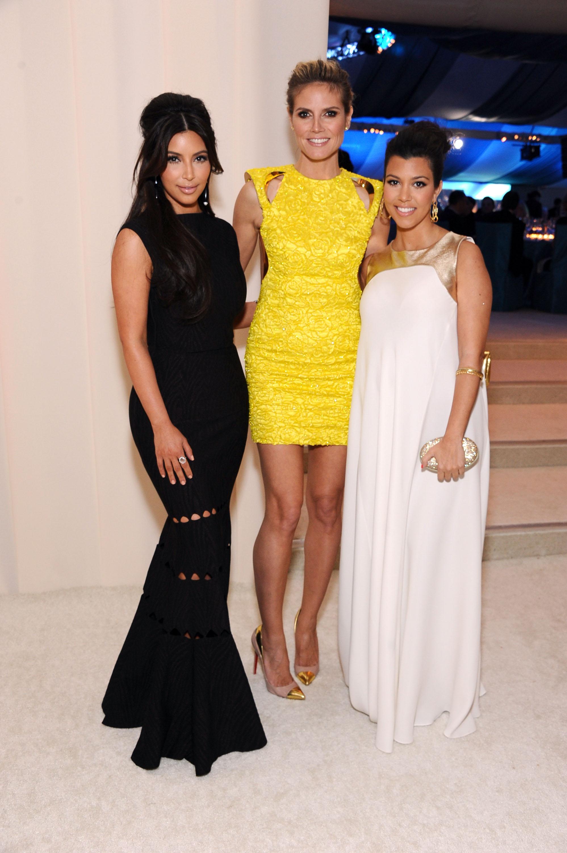 Kim Kardashiain, Heidi Klum, Kourtney Kardashian