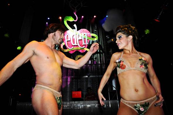 Adam and Eve at EDEN, Studio 54, Las Vegas, 1.31.12