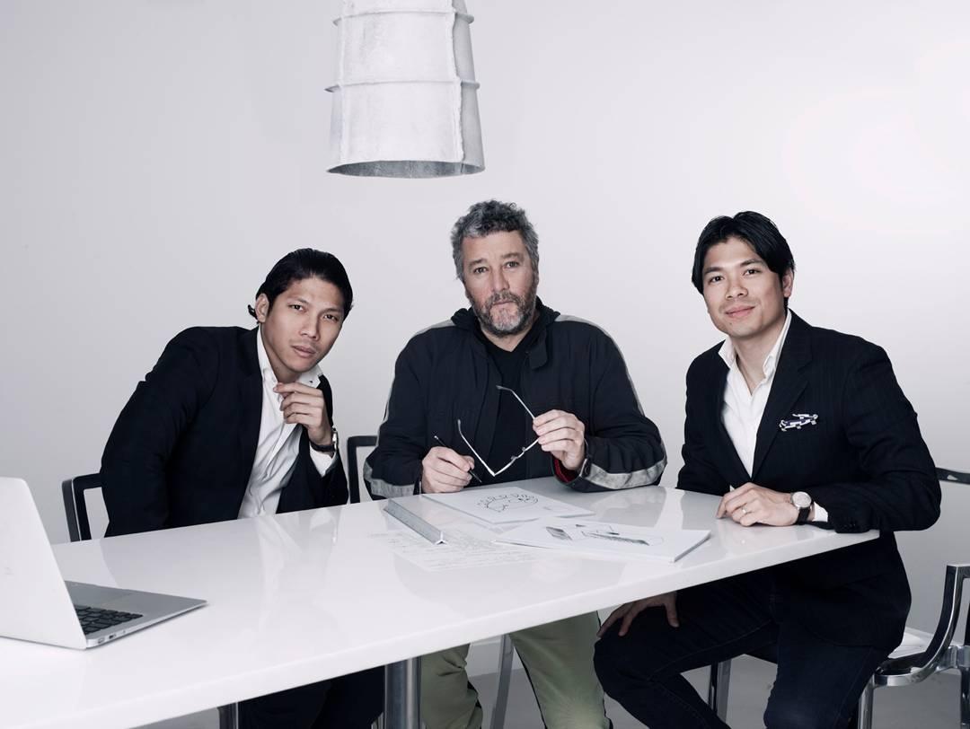 Antonios with Philippe Starck