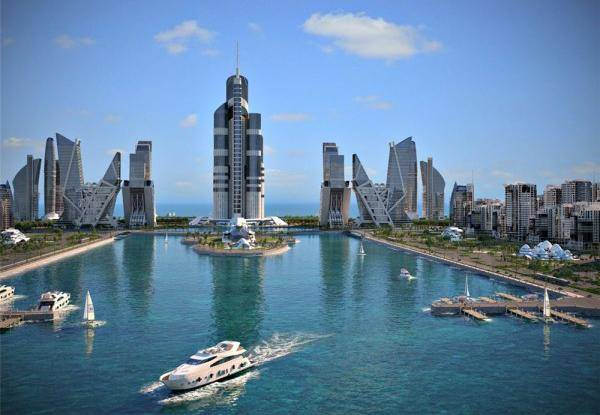 Azerbaijan-Tower-Water-Tall-