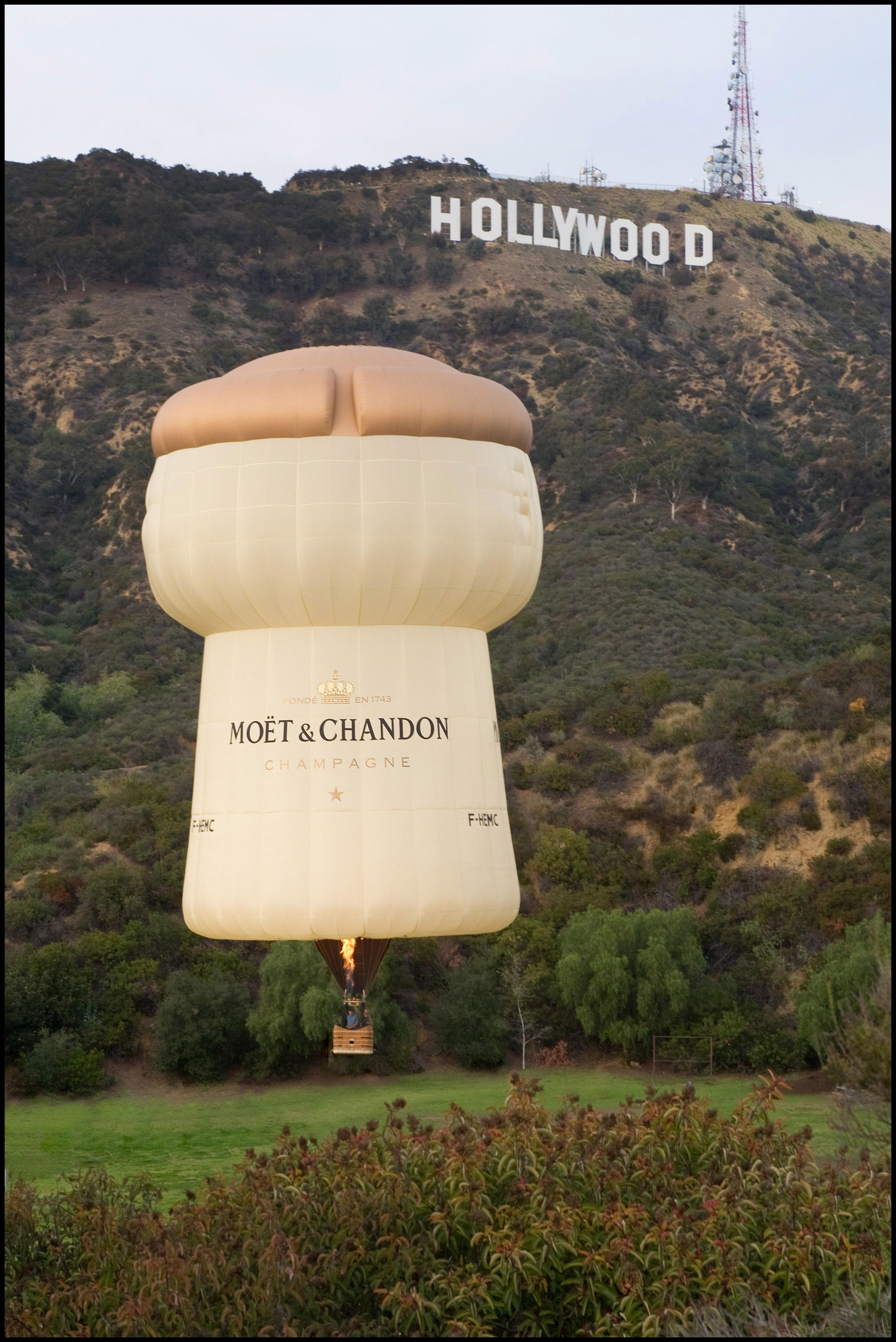 Balloon at Hollywood Sign hi res