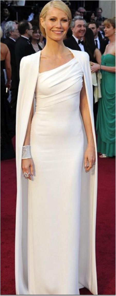 1.	Gwenyth Paltrow in Tom Ford