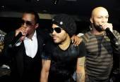 Diddy, Lenny Kravitz and Common perform at the I Love NY Party at 1 OAK.
