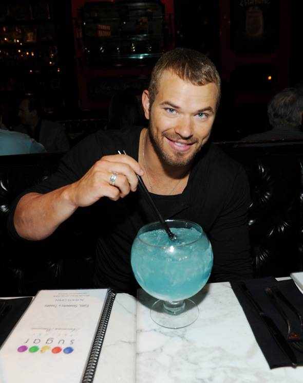 Kellan Lutz with Oceans Blue Goblet