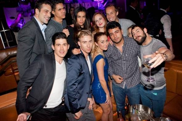 Lauren Conrad and Frankie Delgado with friends at Hyde Bellagio, Las Vegas, 2.10.12