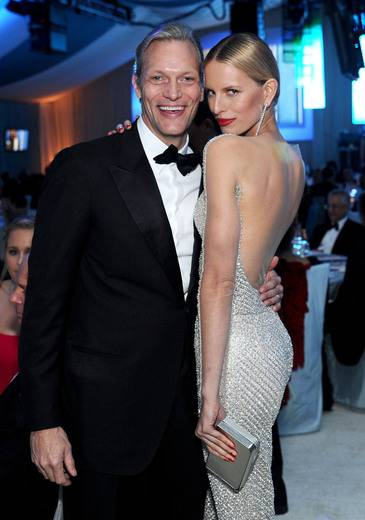 Marc Hruschka, Chopard USA President & CEO with Karolina Kurkova at the EJAF Academy Awards Viewing Party