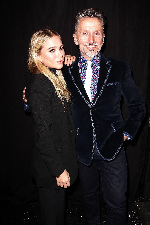 Mary-Kate Olsen & Simon Doonan  Backstage at the Diet Pepsi Style Studio Fashion Show 2.9.12