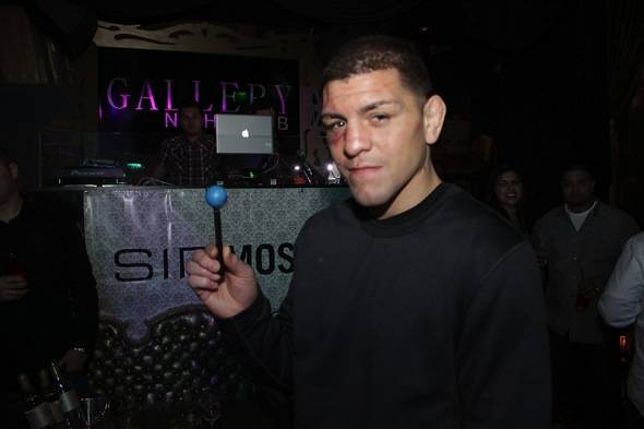 Nick Diaz poses with signature Sugar Factory Couture Pop at Gallery Nightclub in Las Vegas