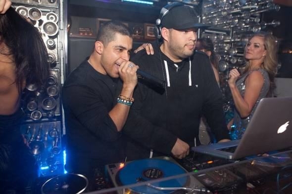 Wilmer Valderrama on stage at Hyde Bellagio with DJ triple XL