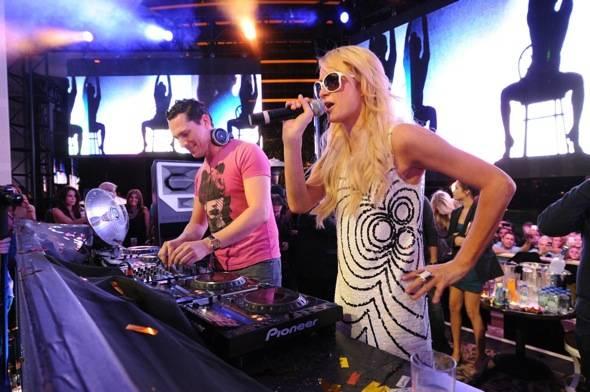 XS - Tiesto Paris Hilton - credit Danny Mahoney