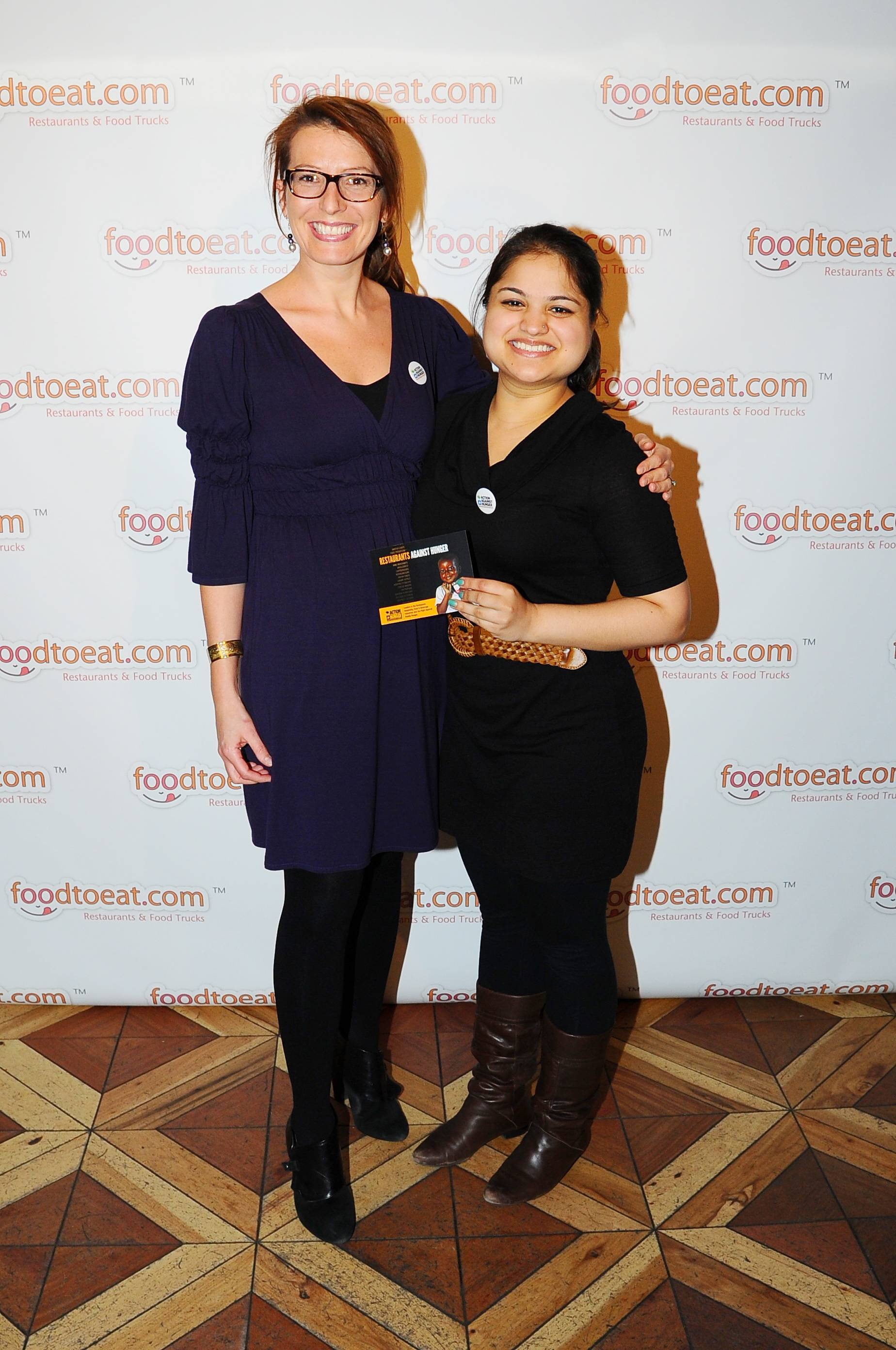Elaine Ryan and Radhika Shah from Action Against Hunger