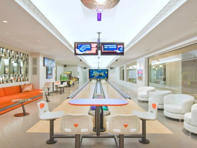 a Hamptons luxury estate underground bowling alley