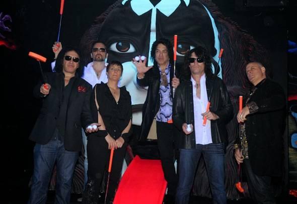 Gene Simmons, Eric Singer, Christina Vitagliano, Paul Stanley, T