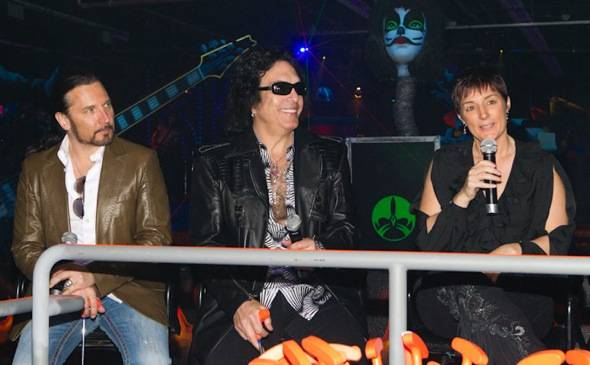 Eric Singer, Paul Stanley and Christina Vitagliano