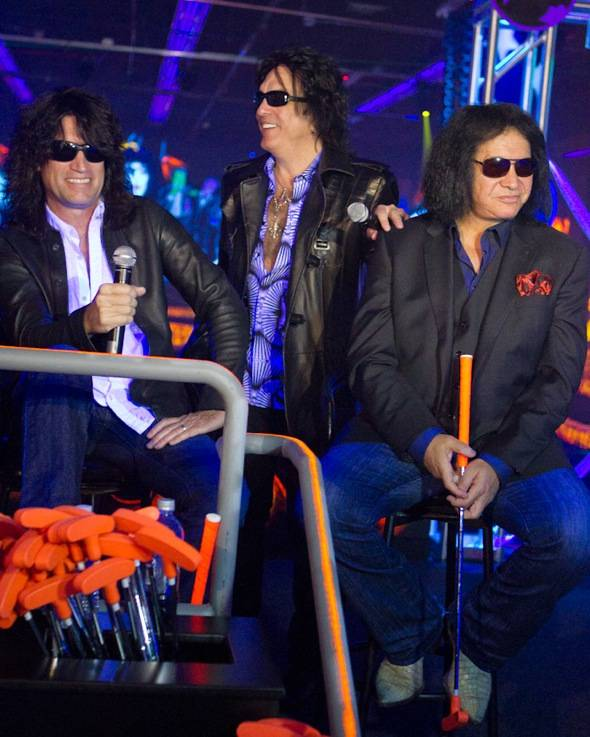 Tommy Thayer, Paul Stanley and Gene Simmons