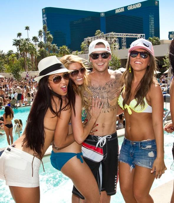 Haute Event Ryan Sheckler Hosts A Spring Break Bash At Wet Republic