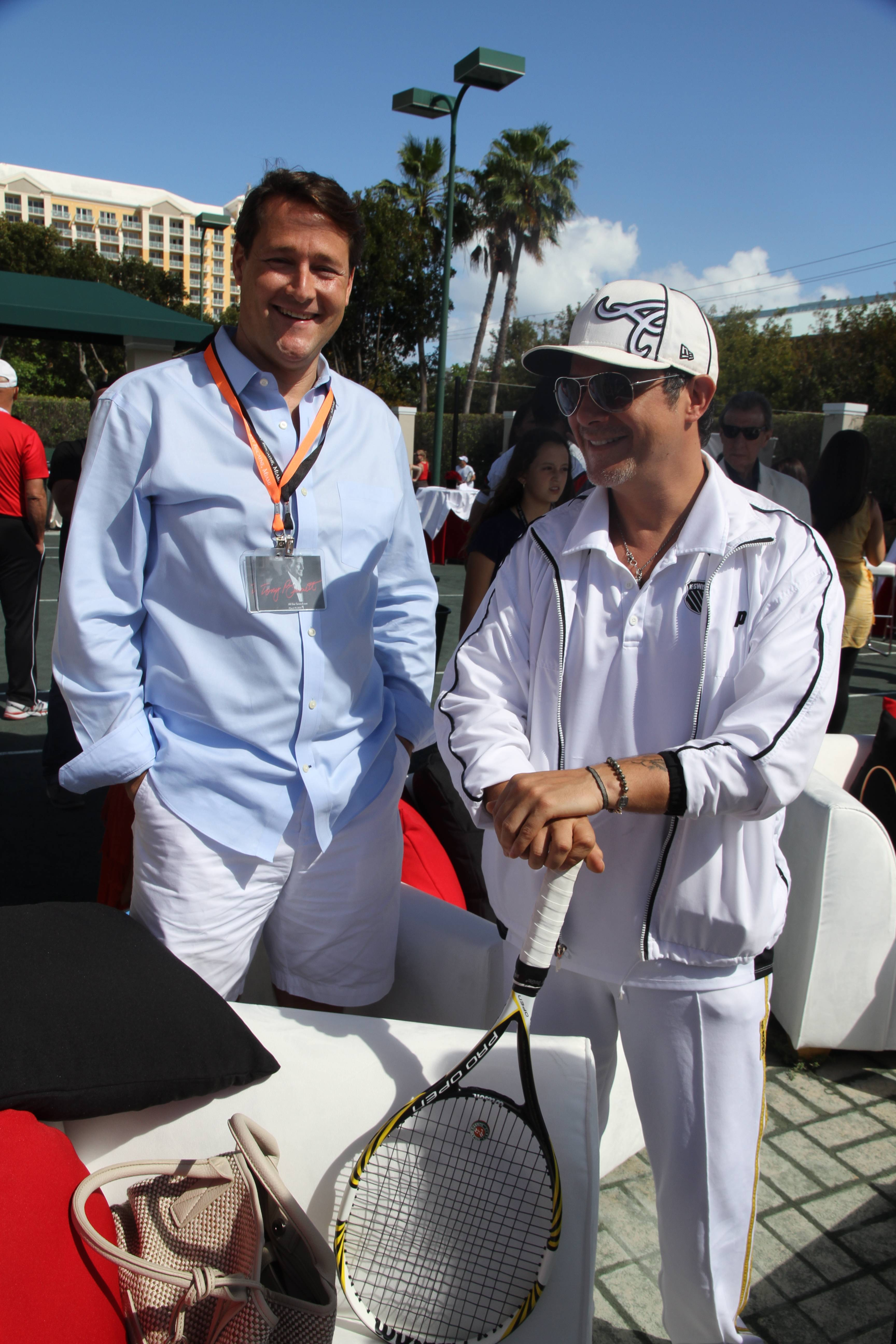 Alejandro Sanz and Sean Wolfington
