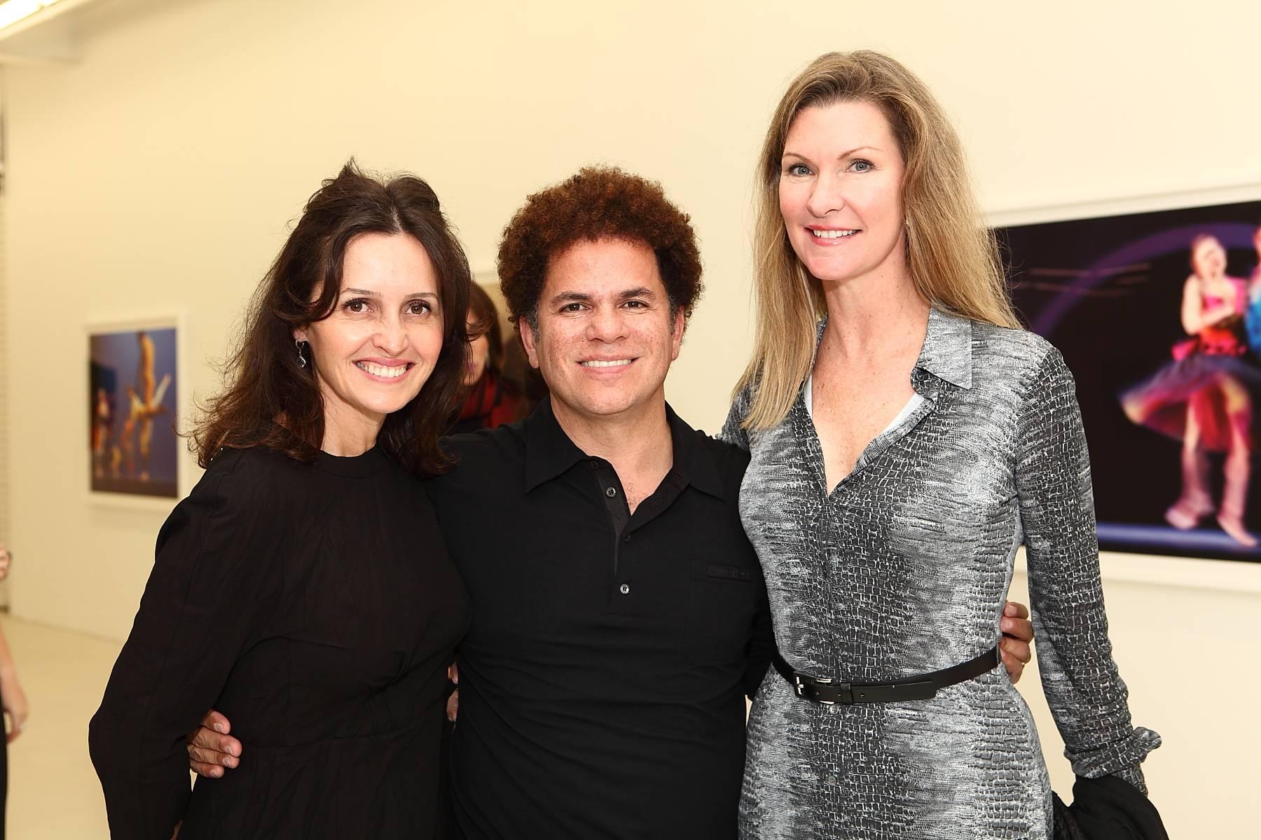 Alina Shriver, Romero Britto & Elizabeth Beracasa