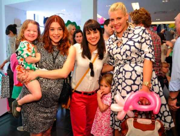 Alyson Hannigan with daughter Satyana, Constance Zimmer with daughter Chloe and Busy Phillips