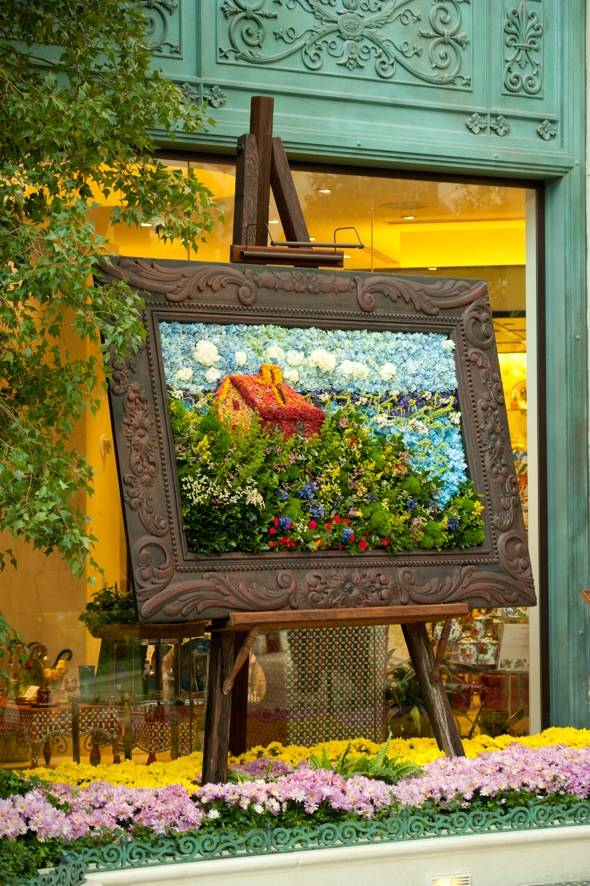 Bellagio Conservatory - Spring - Vertical - Painting - 2012