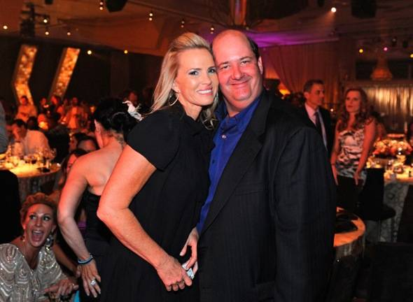 Brian Baumgartner and Janet Jones-Gretzky at MJCI Celebration, Las Vegas, 3.30.12