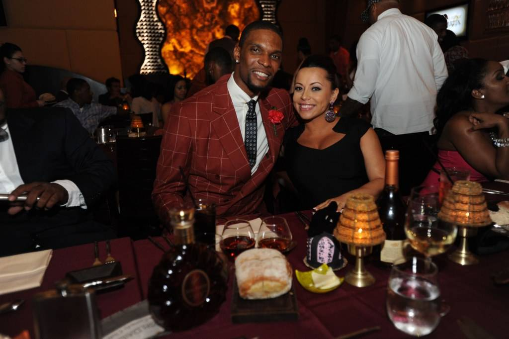Chris Bosh and Adrienne Bosh attend Remy Martin's 28th Birthday Celebration for Chris Bosh (2)