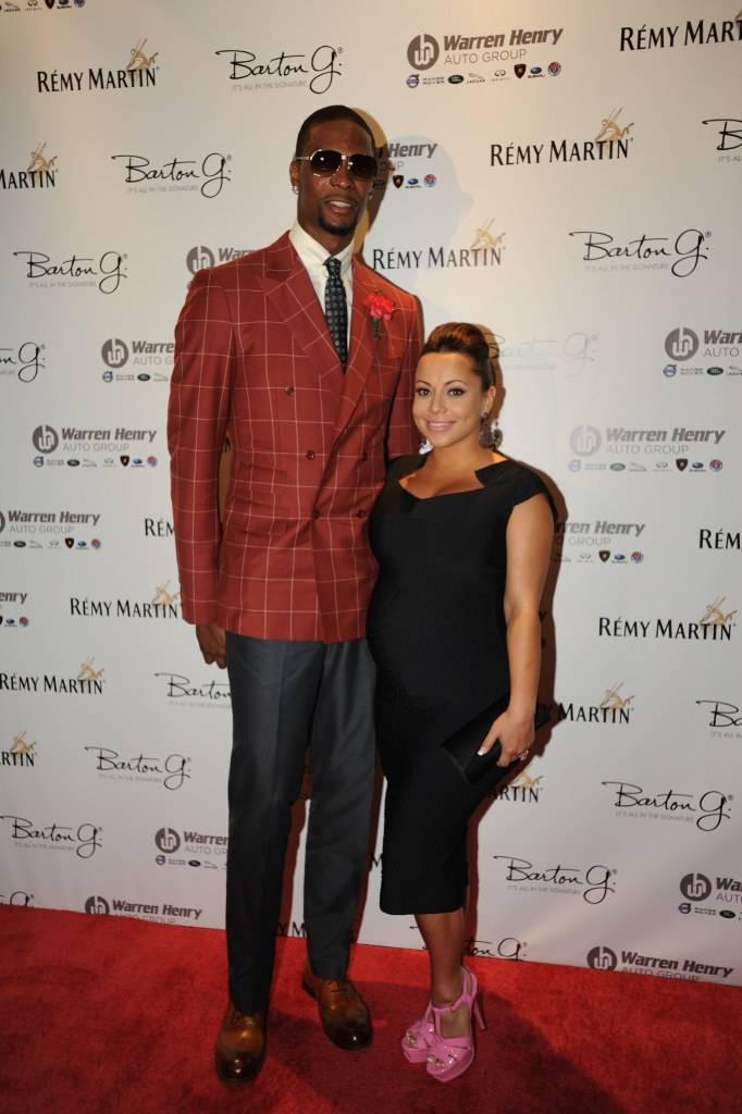Chris Bosh and Adrienne Bosh attend Remy Martin's 28th Birthday Celebration for Chris Bosh