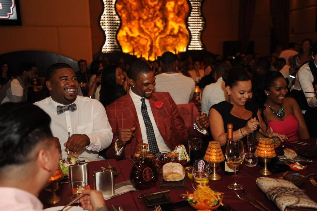 Chris enjoys his birthday with Adrienne at his Remy Martin 28th Birthday Celebration